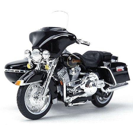 Miniatura Harley Davidson Sidecar Electra Glide Standard 1998 Maisto 1:18