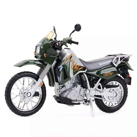 Miniatura Kawasaki KLR 650 2002 Welly 1:18