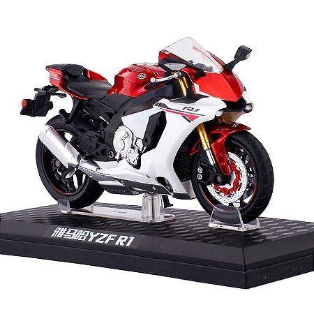 Miniatura Yamaha YZF-R1 Vermelha Caipo 1:12