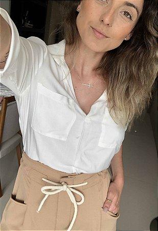 Camisa Viscose Off White