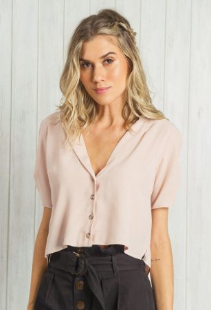 Camisa Cropped Nude