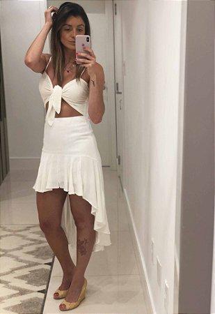 Vestido Mullet de Alças Branco