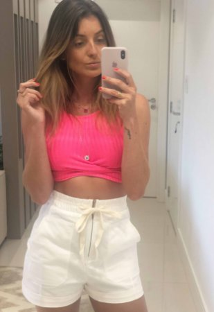 Cropped Neon Rosa