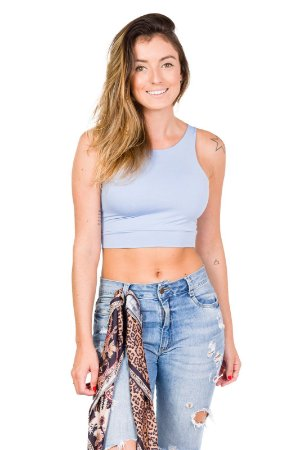 Regata Cropped Azul Claro