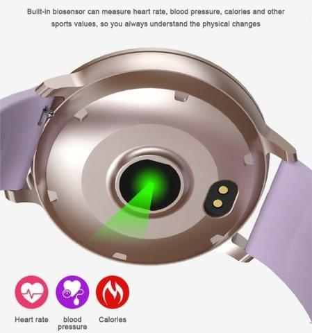 Smartwatch Relógio Bakeey S8 Cores Monitor Pressão Freqüência Academia P.Entrega
