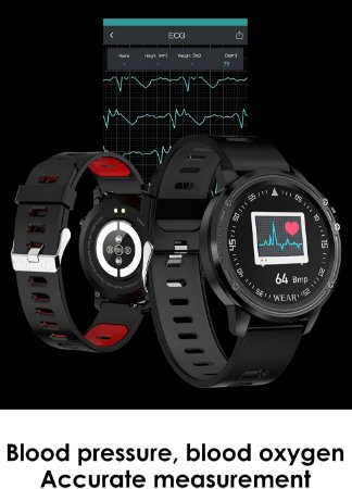 Relogio SmartWatch  L8 Sports - ECG+PPG, IP68 Resistência a água, PACE, Multi-Touch - Android/iOS