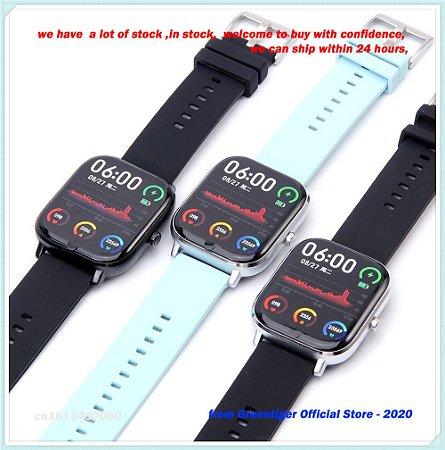 Smartwatch P8 Pró Dt35 ecg ppg bluetooth chamadas fitness ip67 freqüência cardíaca pressão arterial oxigênio Pronto Entrega.