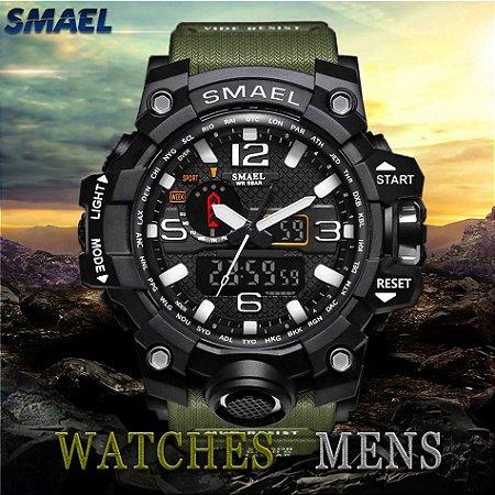 Relógio Smael Mod 1545-G Esportivo Masculino, de Led Relógio Digital estilo Casual Militar para homens. Pronto Entrega