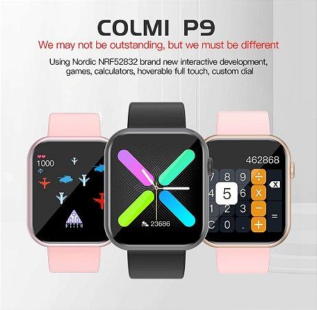 Colmi P9 Relogio Smartwatch Game Fitness Frequencia Pressão Sono Musica Redes Sociais Pronto Entrega