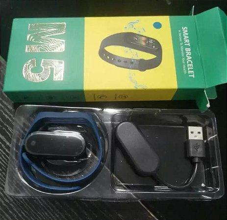 Smartband Pulseira M5 Freqüência Cardíaca Chamadas Esporte Fitness Pulseira Relógio Fitness Tracker