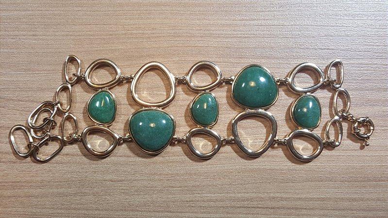 Bracelete Cristal de Quartzo verde Onda Scandal