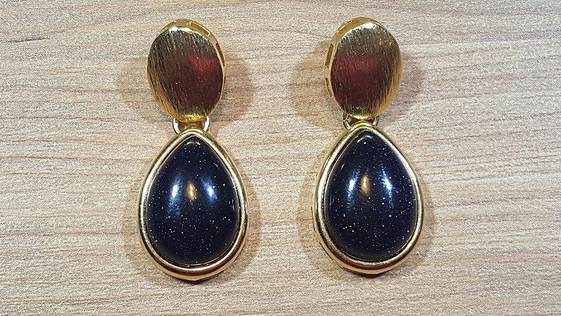 Brincos Pedra Estrela 1/4,5cm Gota Classic