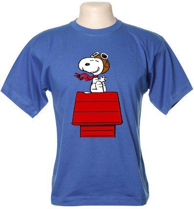 Camiseta Snoopy Casinha Aviador