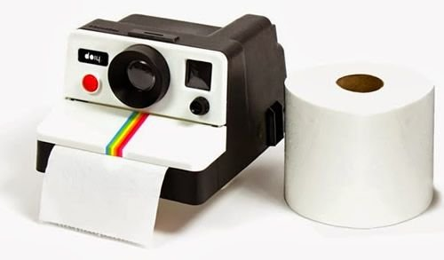 Suporte Papel Higiênico Polaroid Vintage