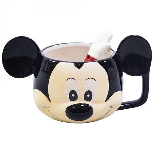 Caneca Rosto do Mickey Porcelana 280ml
