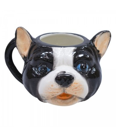 Caneca Cachorro PUG Frânces Porcelana 470ml