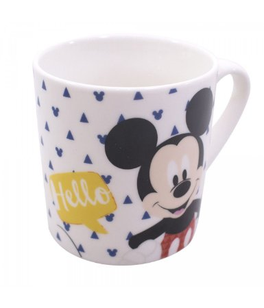 Caneca Mickey Hello Disney Porcelana 250ml