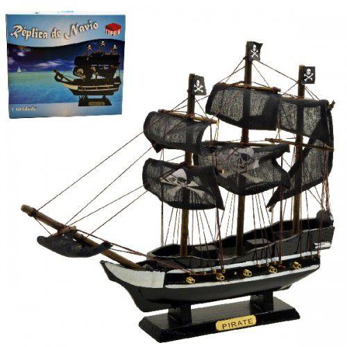 Navio Pirata Caravela De Madeira 16cm