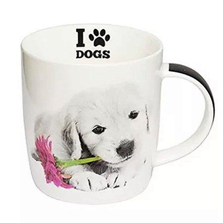 Caneca I Love Dogs Filhote Golden Retriever 320ml