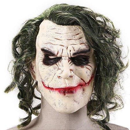 Máscara Coringa Joker Látex Com Cabelo