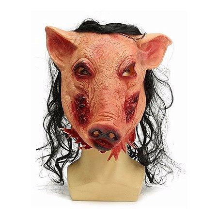 Máscara Porco Bizarro Jogos Mortais - Latex