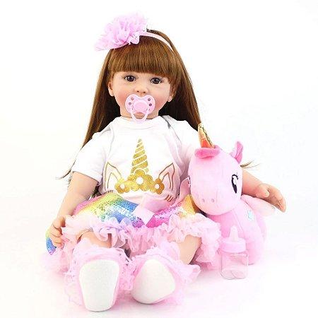 Bebê Reborn Menina Princesa 60cm