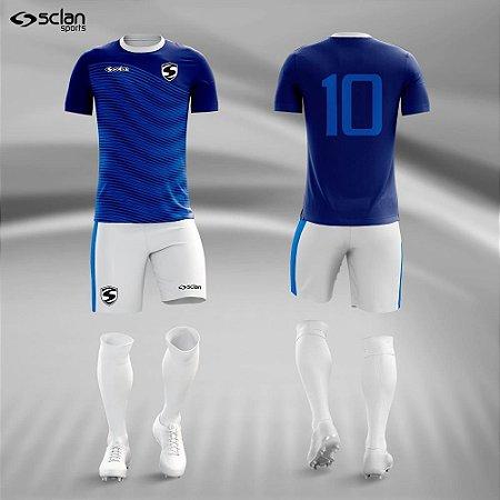 Jogo Uniforme Esportivo Camisa Short, Meião Futebol  Ouro COD.  ss53
