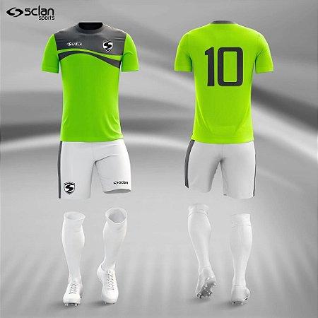 Jogo Uniforme Esportivo Camisa Short, Meião Futebol |Ouro COD.  ss51