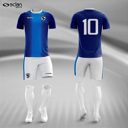Jogo Uniforme Esportivo Camisa Short, Meião Futebol | Série ouro COD. ss60