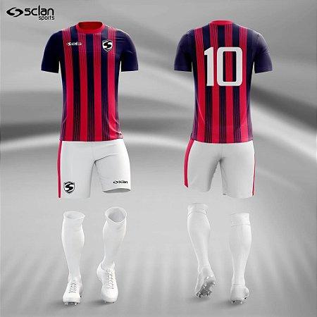 Jogo Uniforme Esportivo Camisa Short, Meião Futebol   Série Ouro COD. ss67