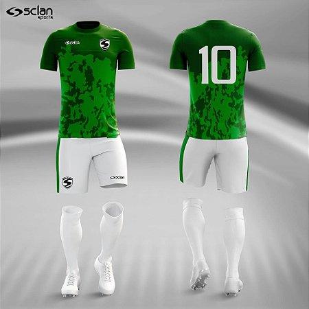 Jogo Uniforme Esportivo Camisa Short, Meião Futebol   Série ouro COD. ss68