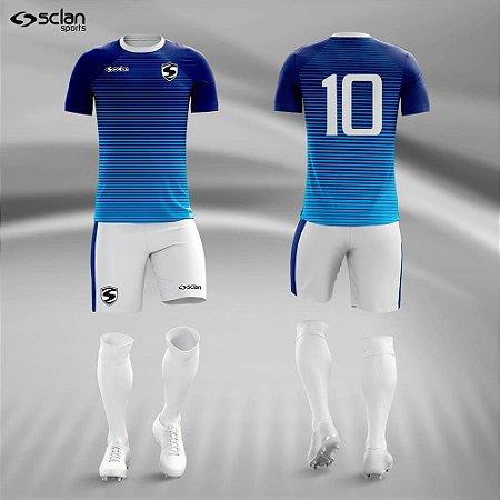 Jogo Uniforme Esportivo Camisa Short, Meião Futebol   Série ouro COD.  ss69