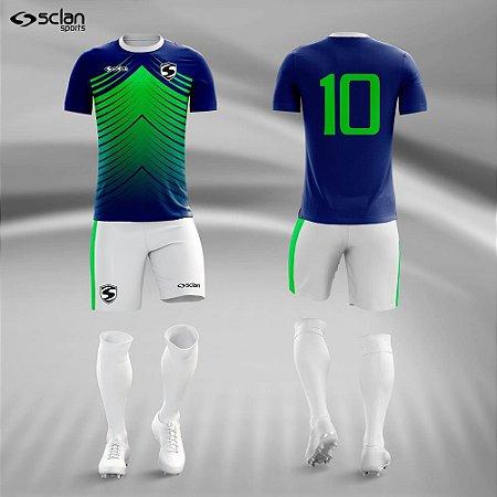 Jogo Uniforme Esportivo Camisa Short, Meião Futebol | Série ouro COD. ss70
