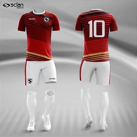 Jogo Uniforme Esportivo Camisa Short, Meião Futebol | Série ouro COD. ss71