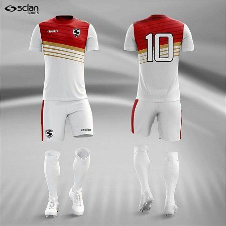 Jogo Uniforme Esportivo Camisa Short, Meião Futebol | Série ouro COD. ss73