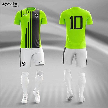 Jogo Uniforme Esportivo Camisa Short, Meião Futebol | Série ouro COD. ss79