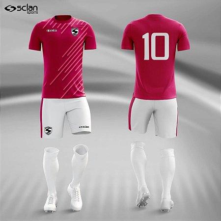 Jogo Uniforme Esportivo Camisa Short, Meião Futebol | Série ouro COD. ss80
