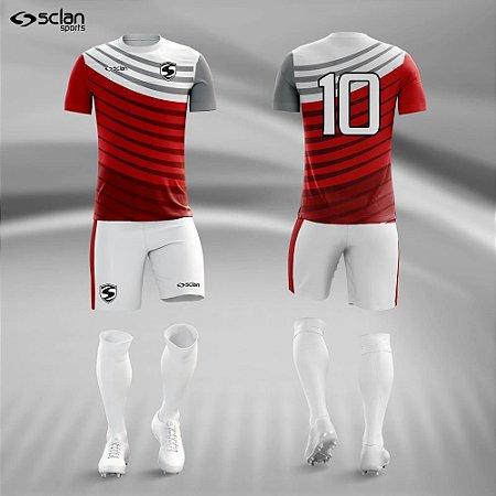 Jogo Uniforme Esportivo Camisa Short, Meião Futebol | Série ouro COD. ss81