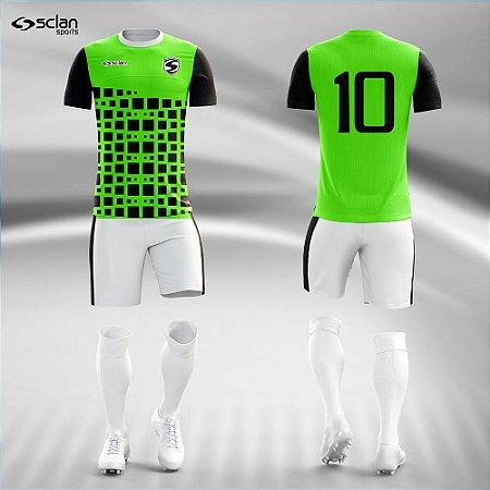 Jogo Uniforme Esportivo Camisa Short, Meião Futebol | Série ouro COD. ss83