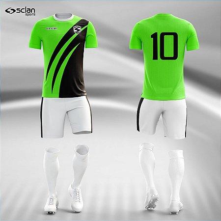 Jogo Uniforme Esportivo Camisa Short, Meião Futebol   Série ouro COD. ss85