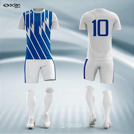 Jogo Uniforme Esportivo Camisa Short, Meião Futebol | Série Prata COD. ss02