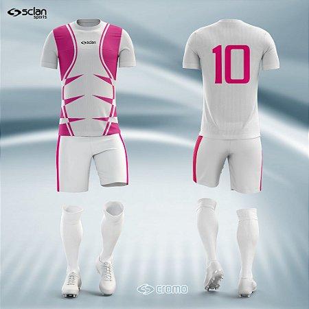 Jogo Uniforme Esportivo Camisa Short, Meião Futebol   Série Prata  ss05