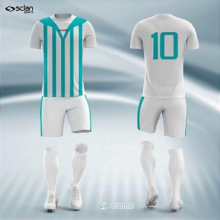 Jogo Uniforme Esportivo Camisa Short, Meião Futebol | Série Prata COD.  ss08