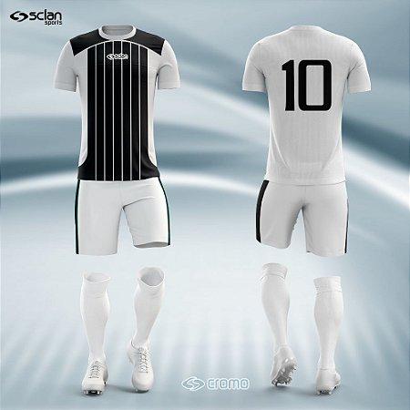 Jogo Uniforme Esportivo Camisa Short, Meião Futebol | Série Prata COD.  ss09