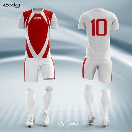 Jogo Uniforme Esportivo Camisa Short, Meião Futebol   Série Prata COD.  ss11