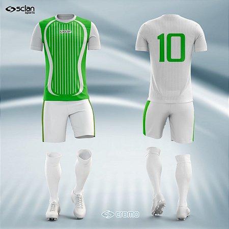Jogo Uniforme Esportivo Camisa Short, Meião Futebol | Série Prata  ss12