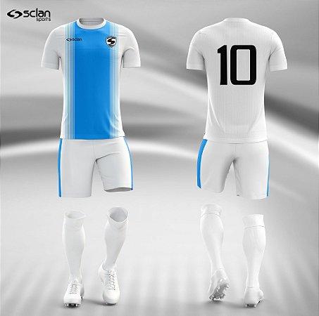 Jogo Uniforme Esportivo Camisa Short, Meião Futebol   Série Prata COD. ss43