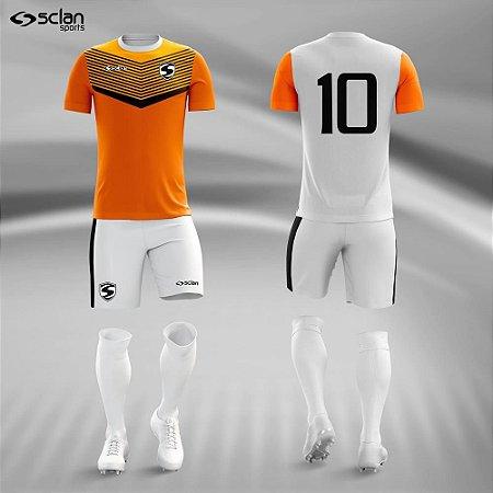 Jogo Uniforme Esportivo Camisa Short, Meião Futebol   Série Prata COD. ss63
