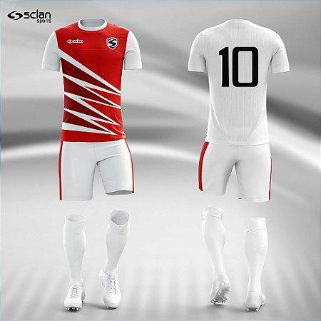 Jogo Uniforme Esportivo Camisa Short, Meião Futebol   Série Prata COD. ss82