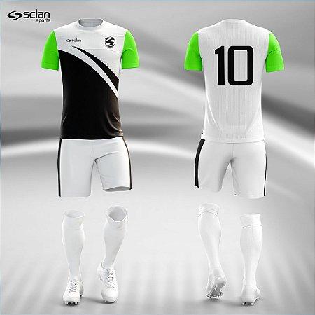 Jogo Uniforme Esportivo Camisa Short, Meião Futebol   Série Prata COD. ss84